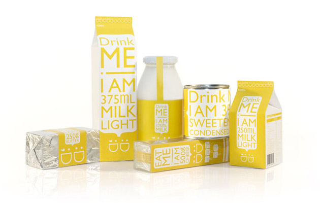 Packaging Leche, Daily Dairy by Kim Hei Ip