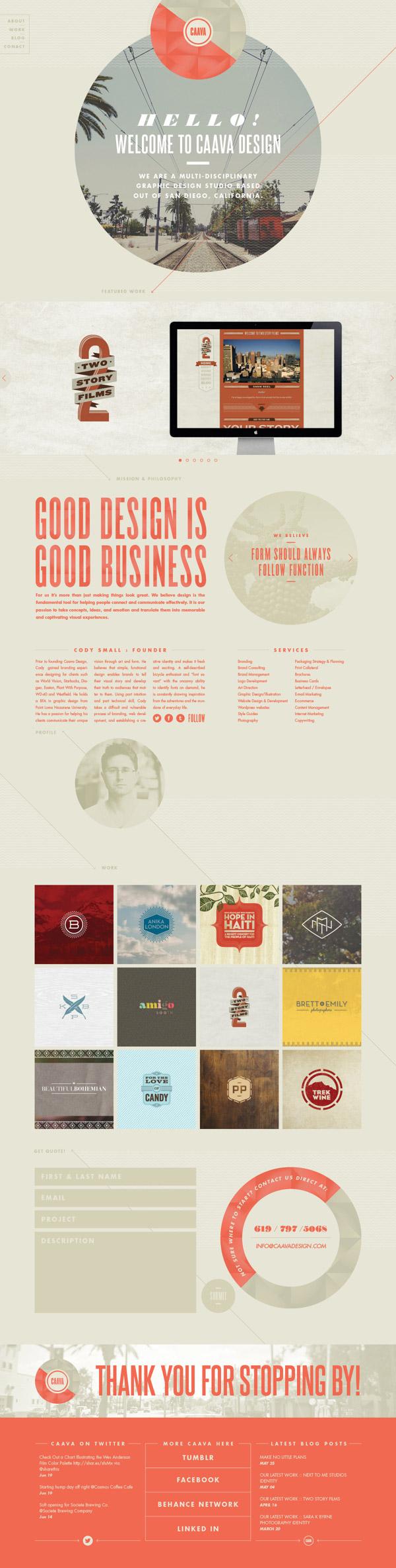 Caava- Inspiración web design
