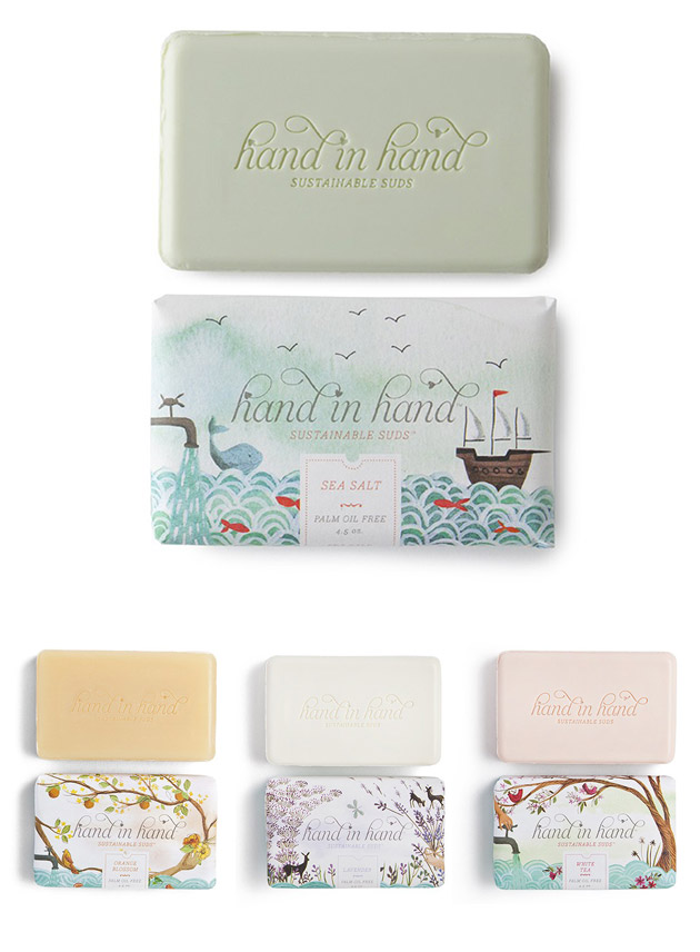 Packaging Jabón, Hand in Hand Soap