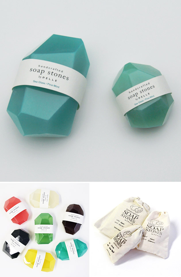 Packaging Jabón, Soap Stones by Pelle Designs