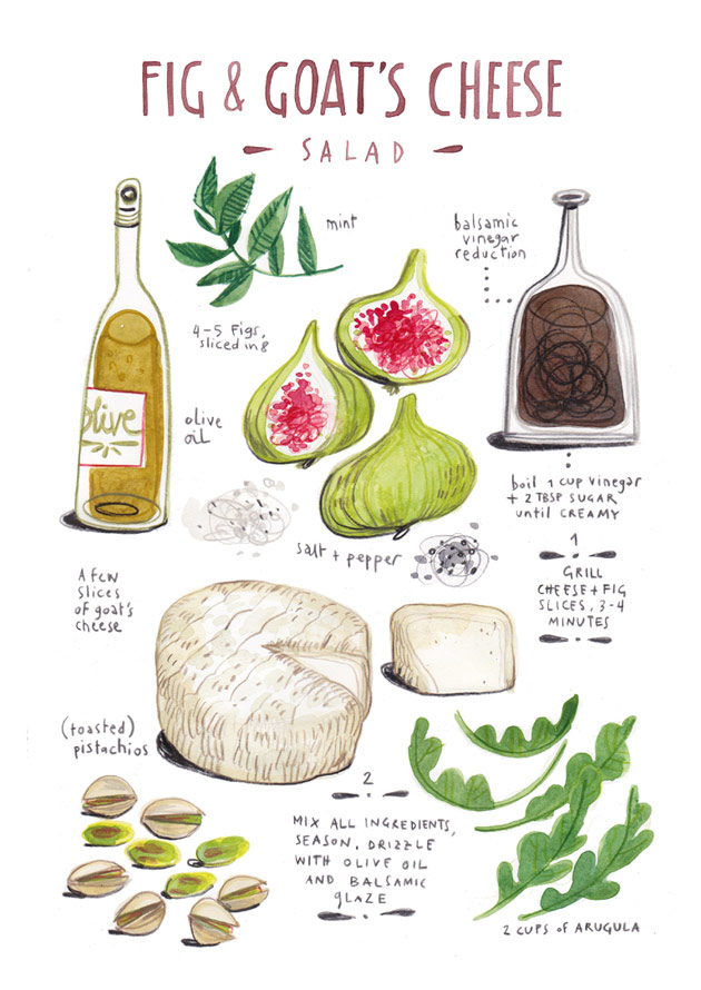 Fig and Goat's Cheese Salad by Felicita Sala
