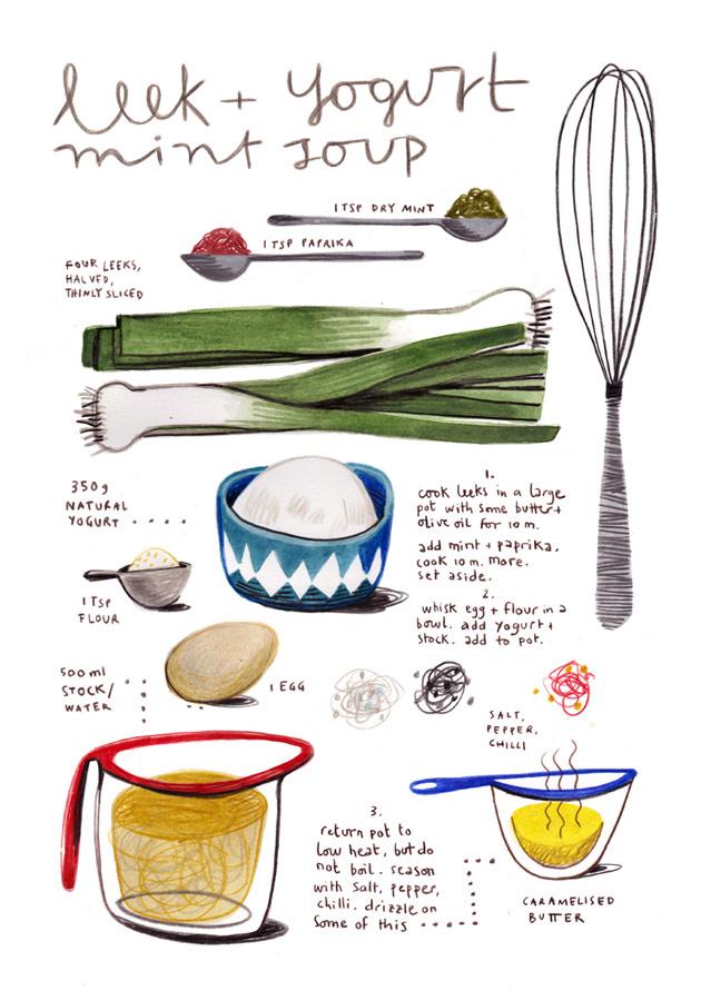 Leek and Yogurt Soup by Felicita Sala