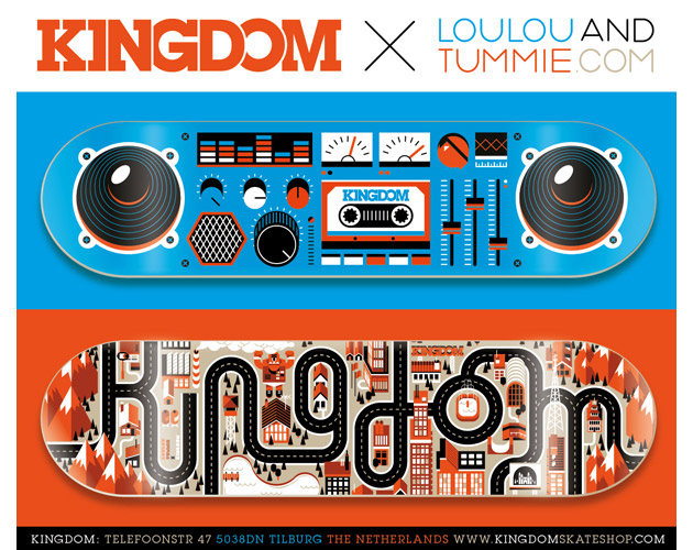 Kingdom Skateboards by LouLou & Tummie