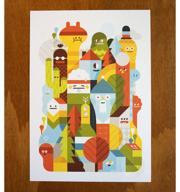 Character City print by LouLou & Tummie