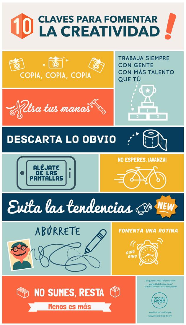 Infografia Social MOOD - 10 claves para fomentar la creatividad