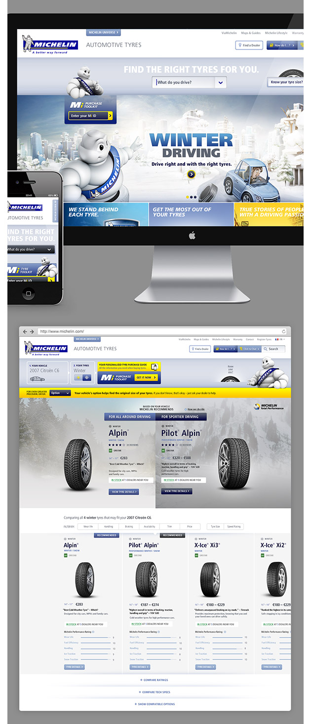 Michelin pitch - Inspiración web design