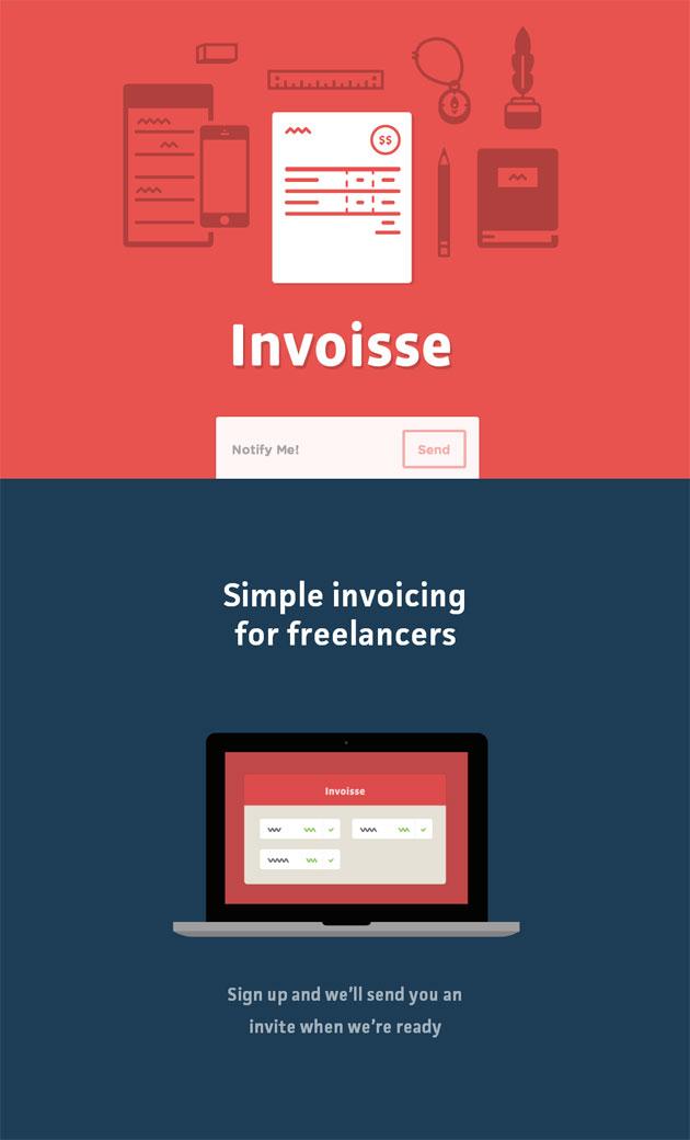 Invoisse - Inspiración web design