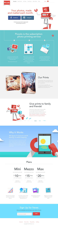 Piccolo - Inspiración web design