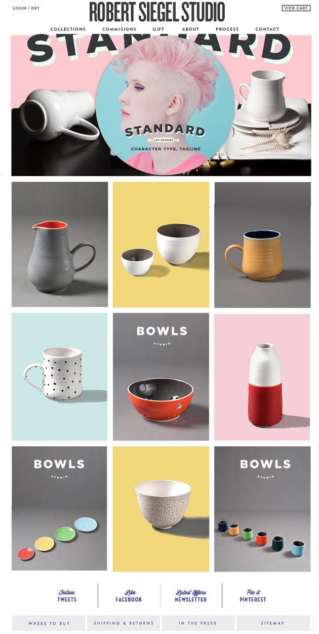 Robert Siegel Studio - Inspiración web design
