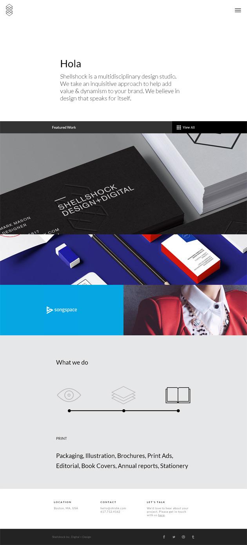 Shellshock - Inspiración web design
