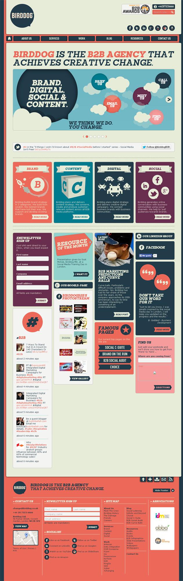 Birddog - Inspiración web design