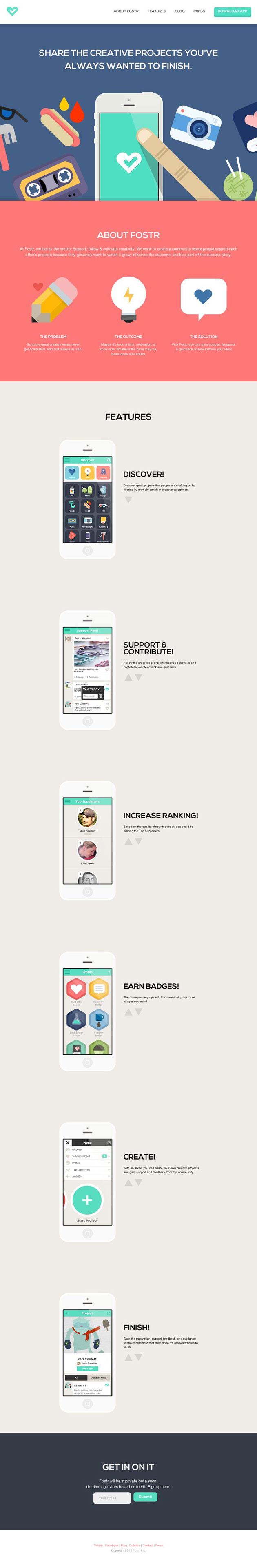 Fostr - Inspiración web design