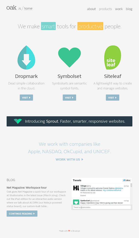 Oak Studios - Inspiración web design