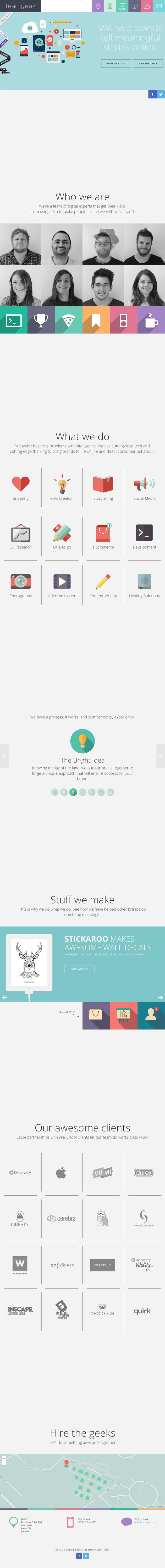 Teamgeek - Inspiración web design