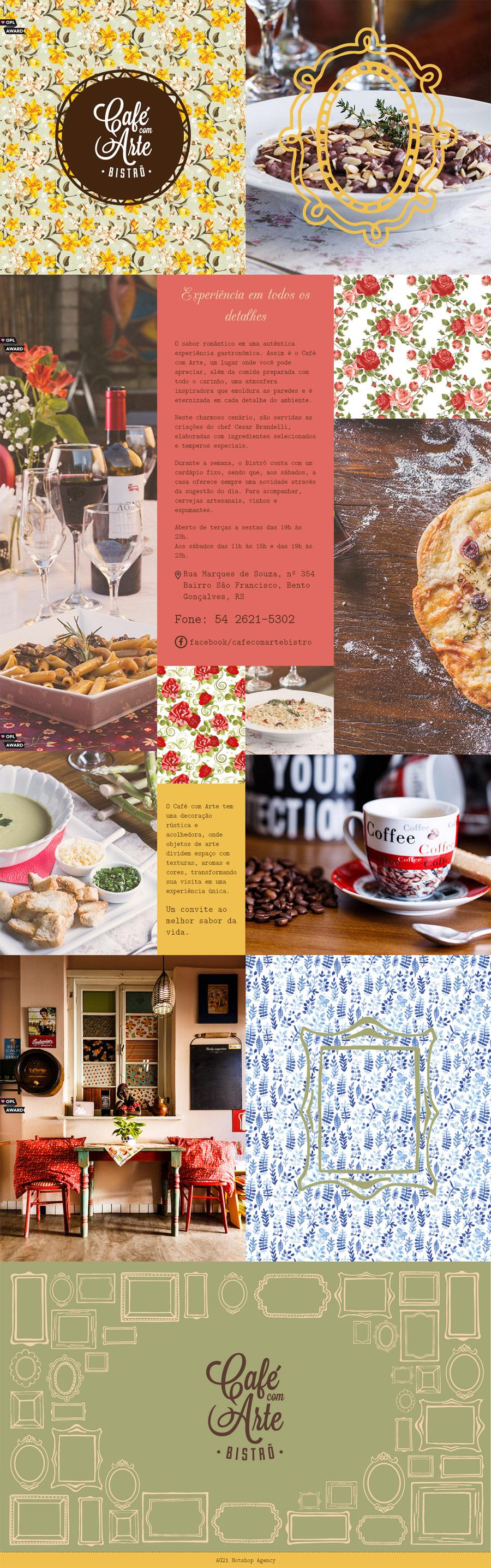 Café com Arte Bistro - Inspiración web design