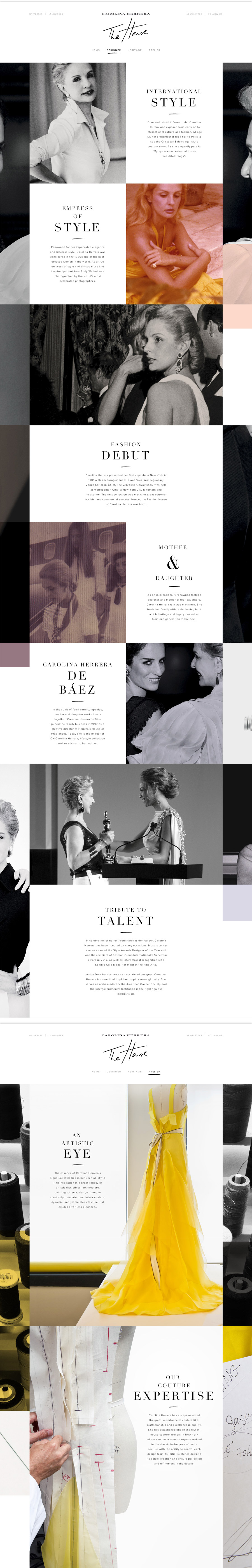 Carolina Herrera - The House - Inspiración web design