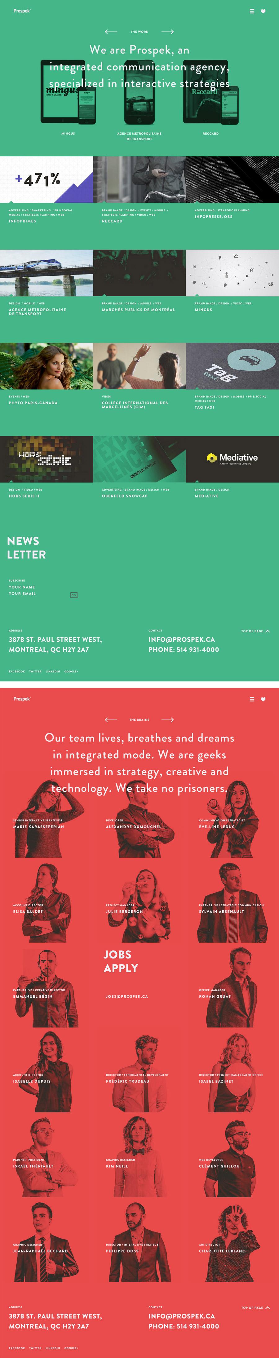 Prospek - Inspiración web design