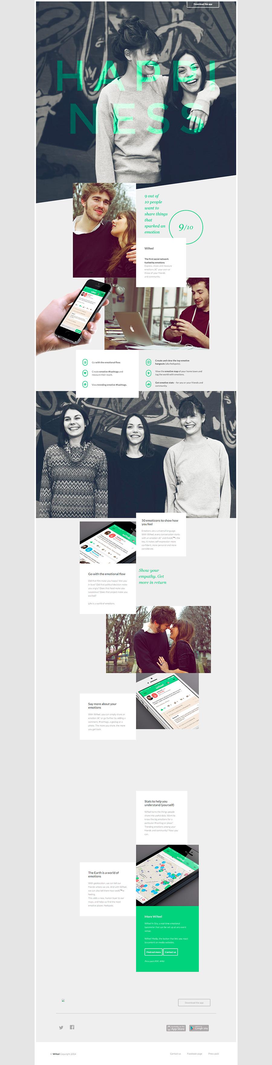 Wifeel- Inspiración web design