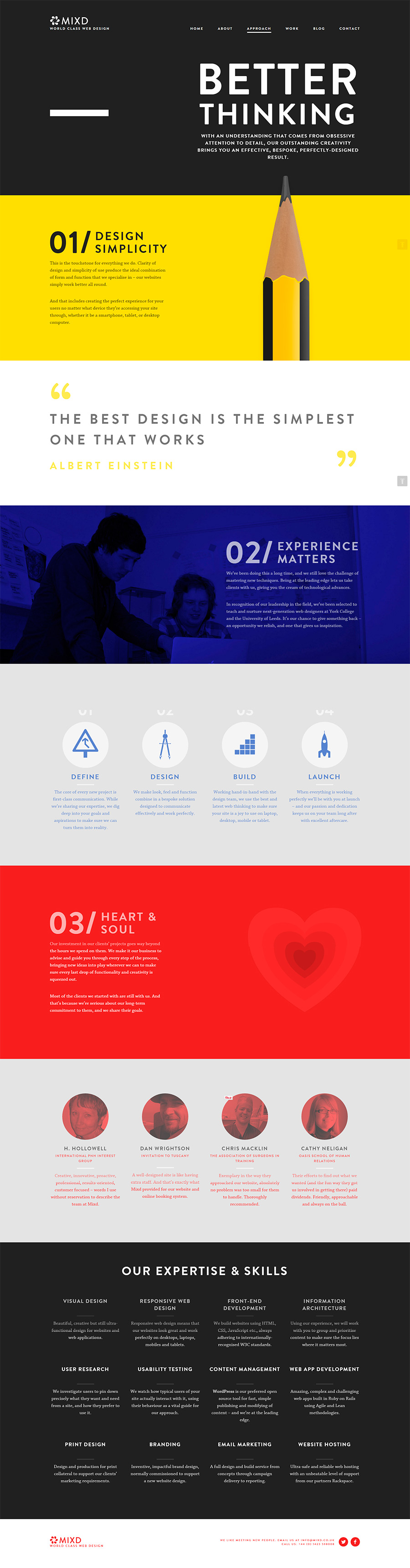 The Mixd - Inspiración web design