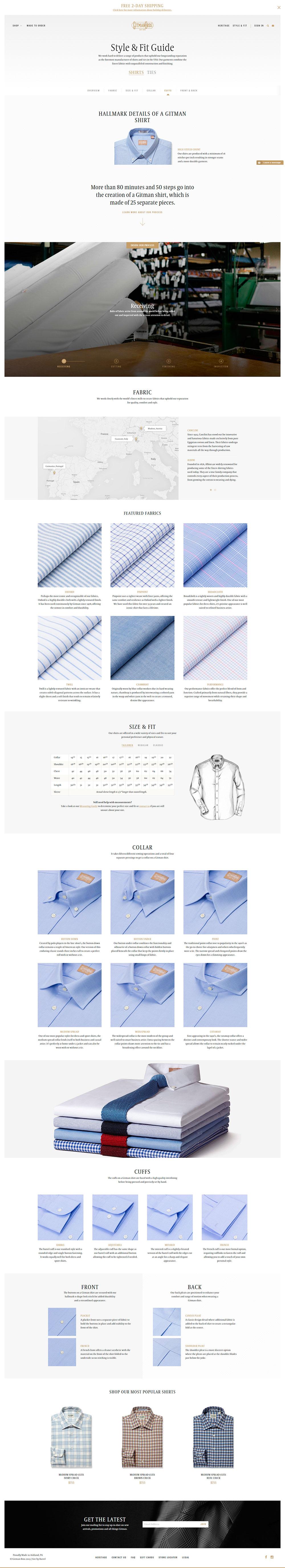 Gitman Shirts - Los websites de la semana 1# 12/2015