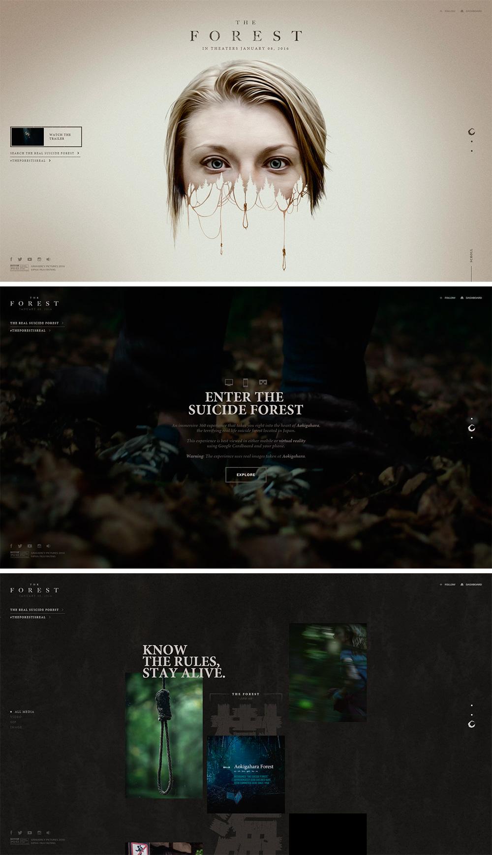 The forest is real - Los websites de la semana 1# 12/2015