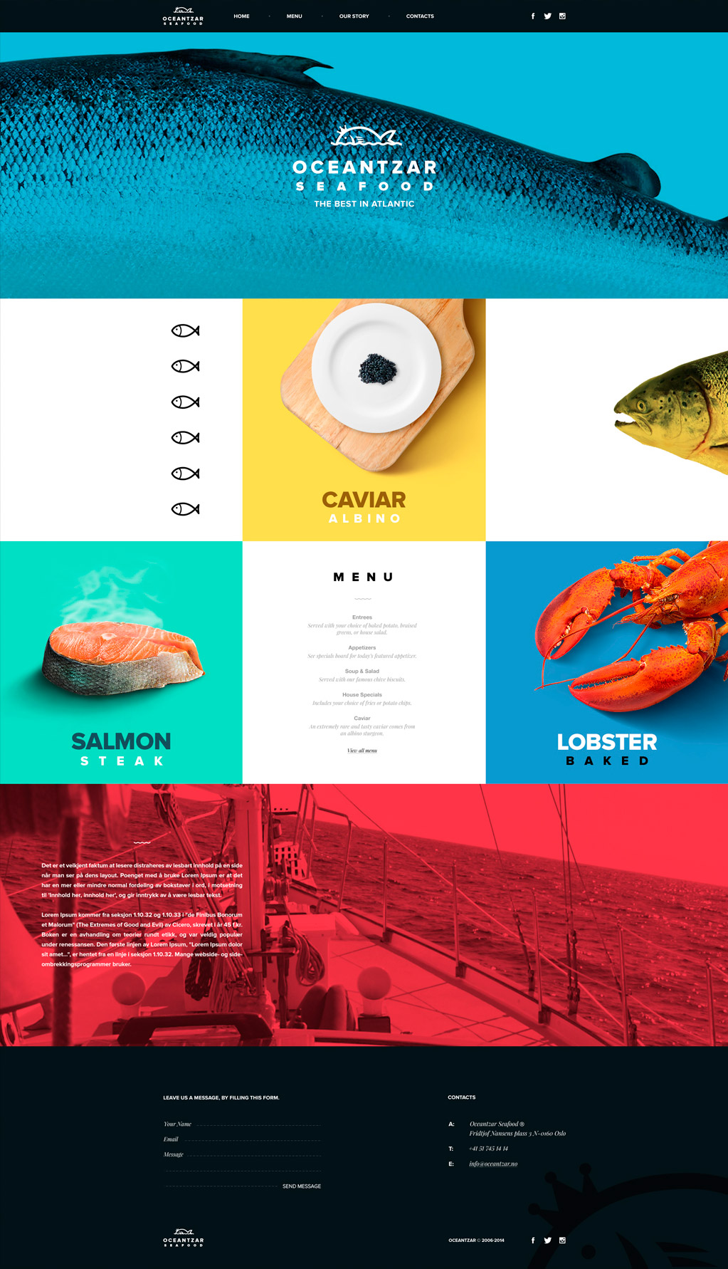 Oceantzar Seafood - Los websites de la semana 1# 01/2016