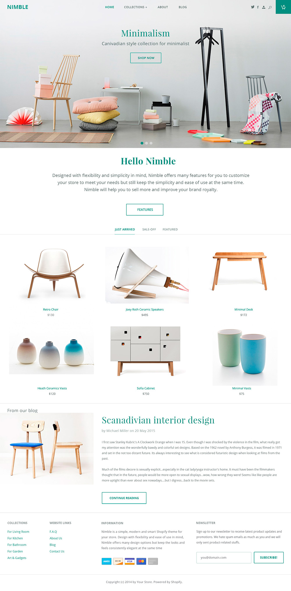Nimble e-commerce theme - Los websites de la semana 2# 02/2016