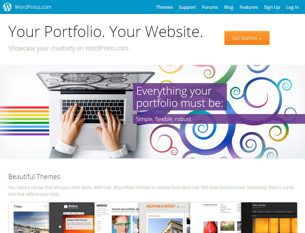 Portfolio en WordPress