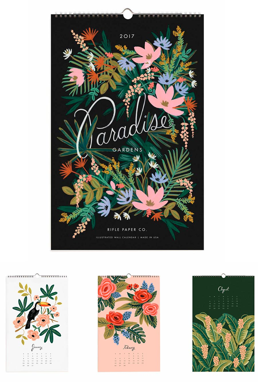 Paradise Gardens Calendar 2017