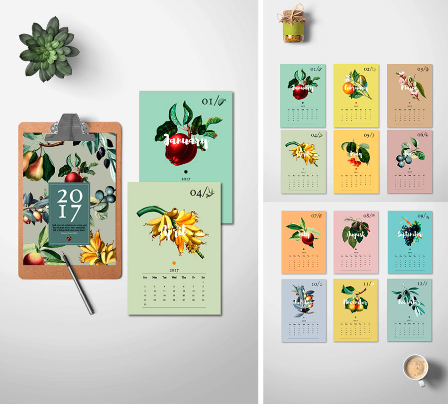 Botanical Calendar 2017
