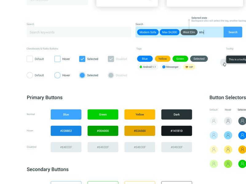 Botones - Style Guide Buttonsby Kerem Suer