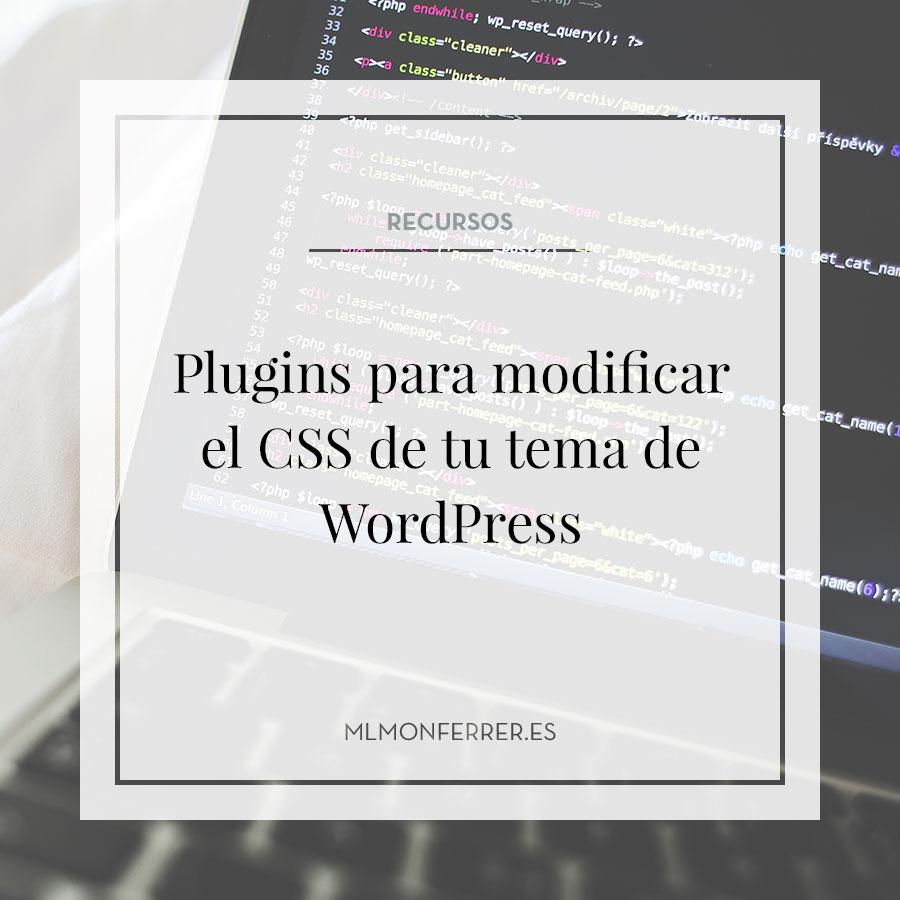 Plugins para personalizar el CSS de tu web