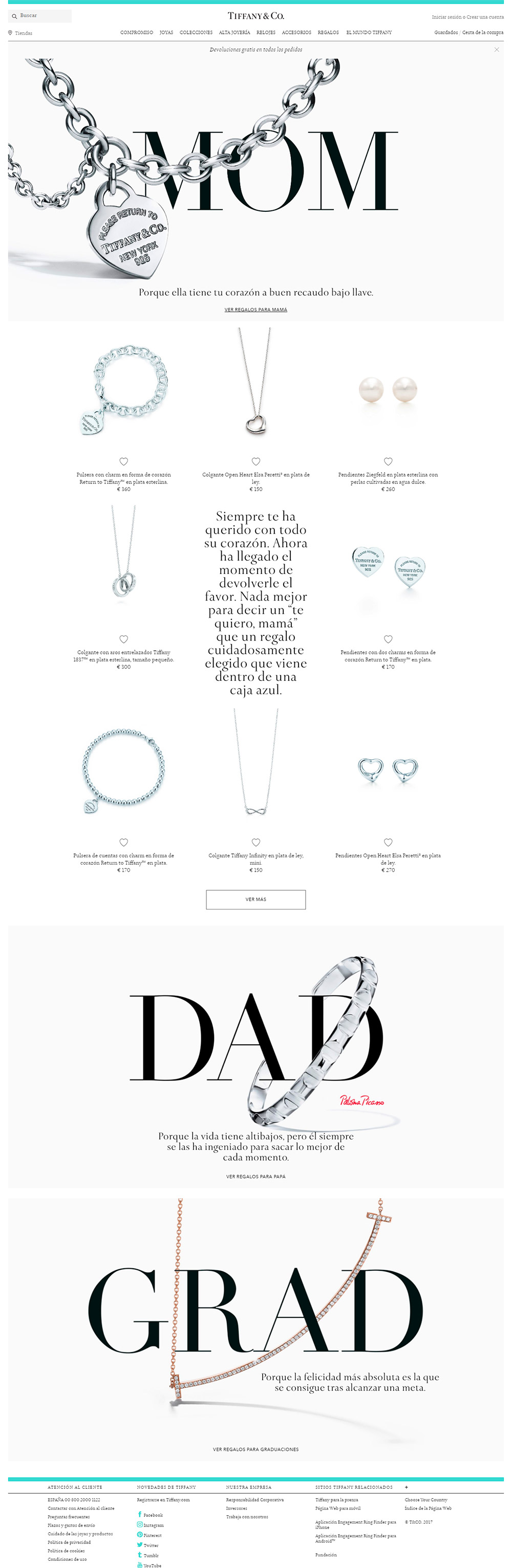 Tiffany - Webs para joyerías