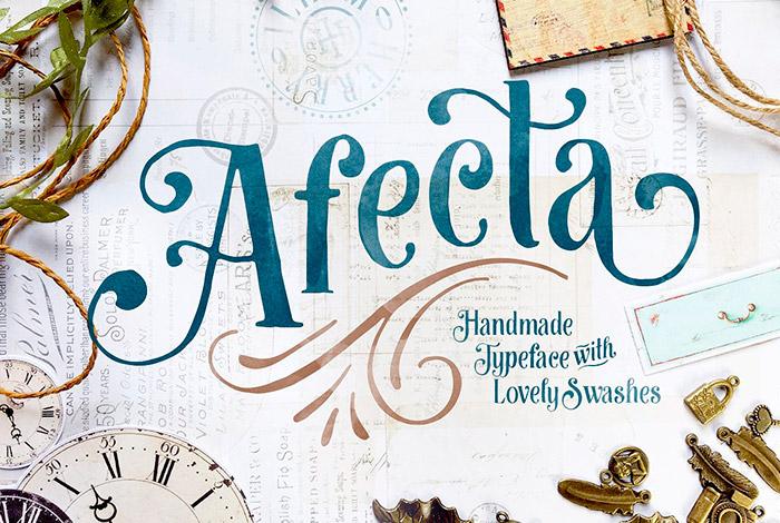 Fuente Afecta - Tipografías primaverales