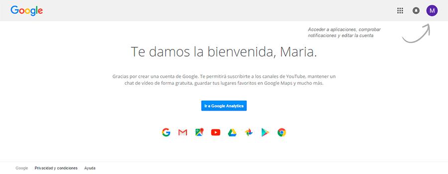 Crear cuenta Google 3