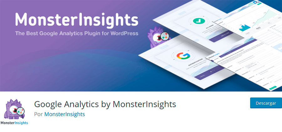 Plugin Google Analytics by MonsterInsights