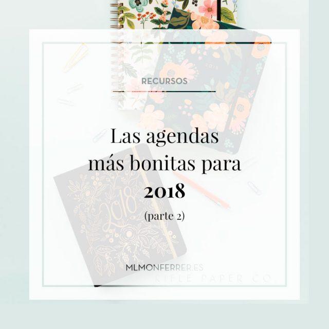 La agendas más bonitas para 2018 (parte II)