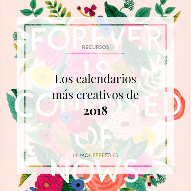 Los calendarios más creativos de 2018
