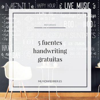 5 fuentes handwriting gratuitas