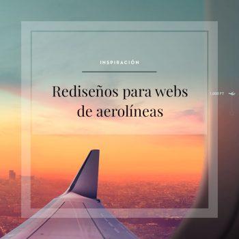 Inspiracion web, rediseño de webs de aerolineas