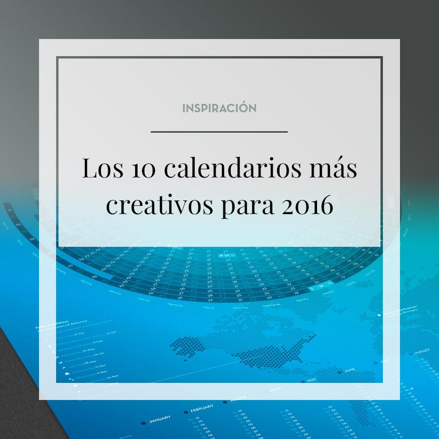 Los 10 calendarios más creativos para 2016