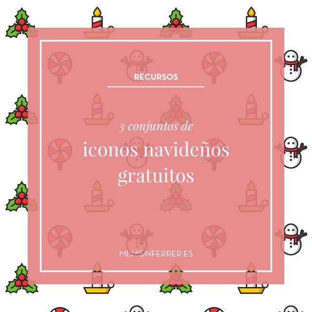 3 conjuntos de iconos navideños gratuitos
