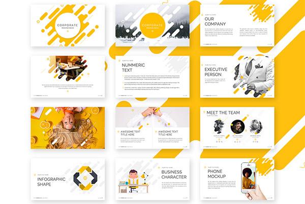 Corporate Powerpoint Template   Recursos gratuitos de mayo para diseñadores