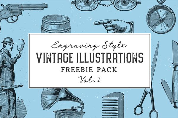 Free Vintage Illustrations Vol. 2      Recursos gratuitos de mayo para diseñadores