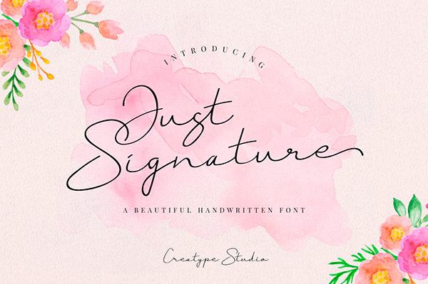 Fuente Just Signature     Recursos gratuitos de mayo para diseñadores