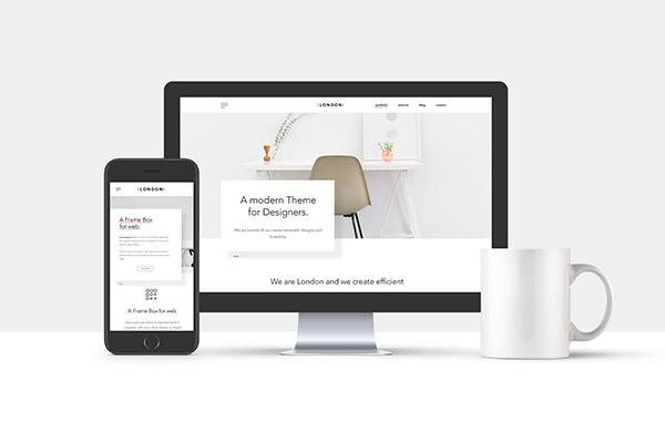 Free Minimal Web Showcase Mockup (PSD)   Recursos gratuitos de mayo para diseñadores