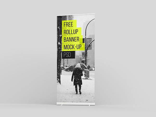 Free Rollup Mockup (PSD)   Recursos gratuitos de mayo para diseñadores