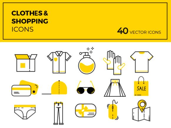 40 Cloths & shopping vector icons   Recursos gratuitos de mayo para diseñadores