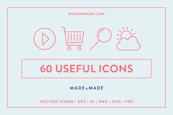 LINE ICONS – USEFUL   Recursos gratuitos de mayo para diseñadores