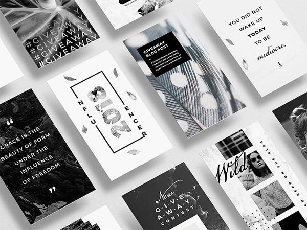 Black&White – Instagram Designs and Templates   Recursos gratuitos de mayo para diseñadores